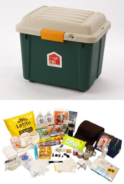 オリジナル備蓄箱スタンダード 単身向けセット(40アイテム)