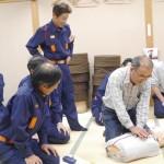 「原学区婦人部」消防団による応急処置・AED講習会