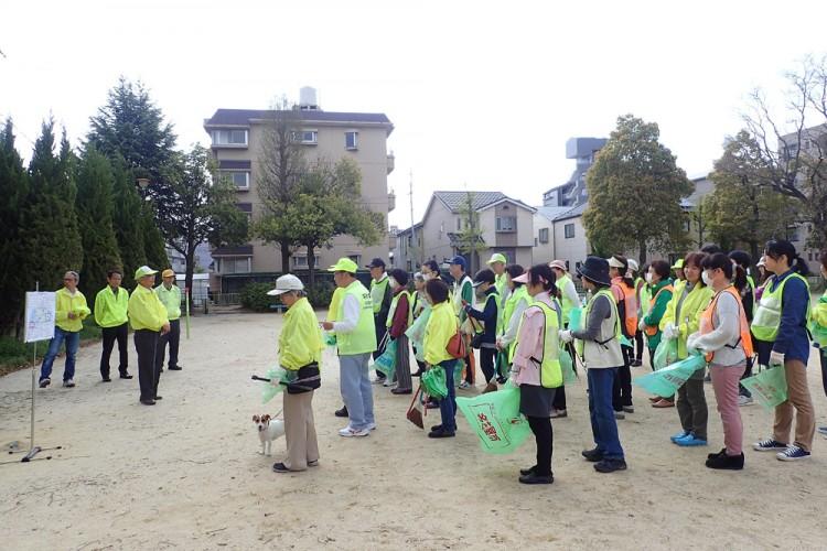 平北学区春のクリーン活動