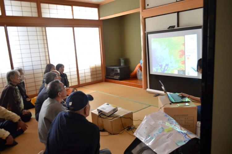 野跡学区津波避難訓練