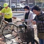 【平針北学区】放置自転車警告巡回