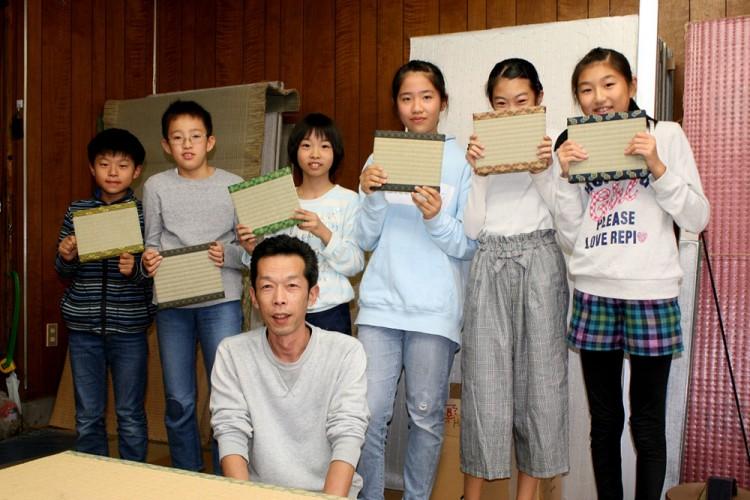 【平針北学区】青少年健全育成部会「ミニチュア畳を作ろう!」