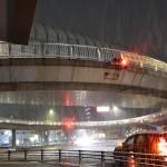 名古屋で初雪